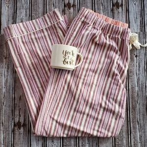 GILLIGAN OMALLEY Pink Striped Pajama Pants, XXL